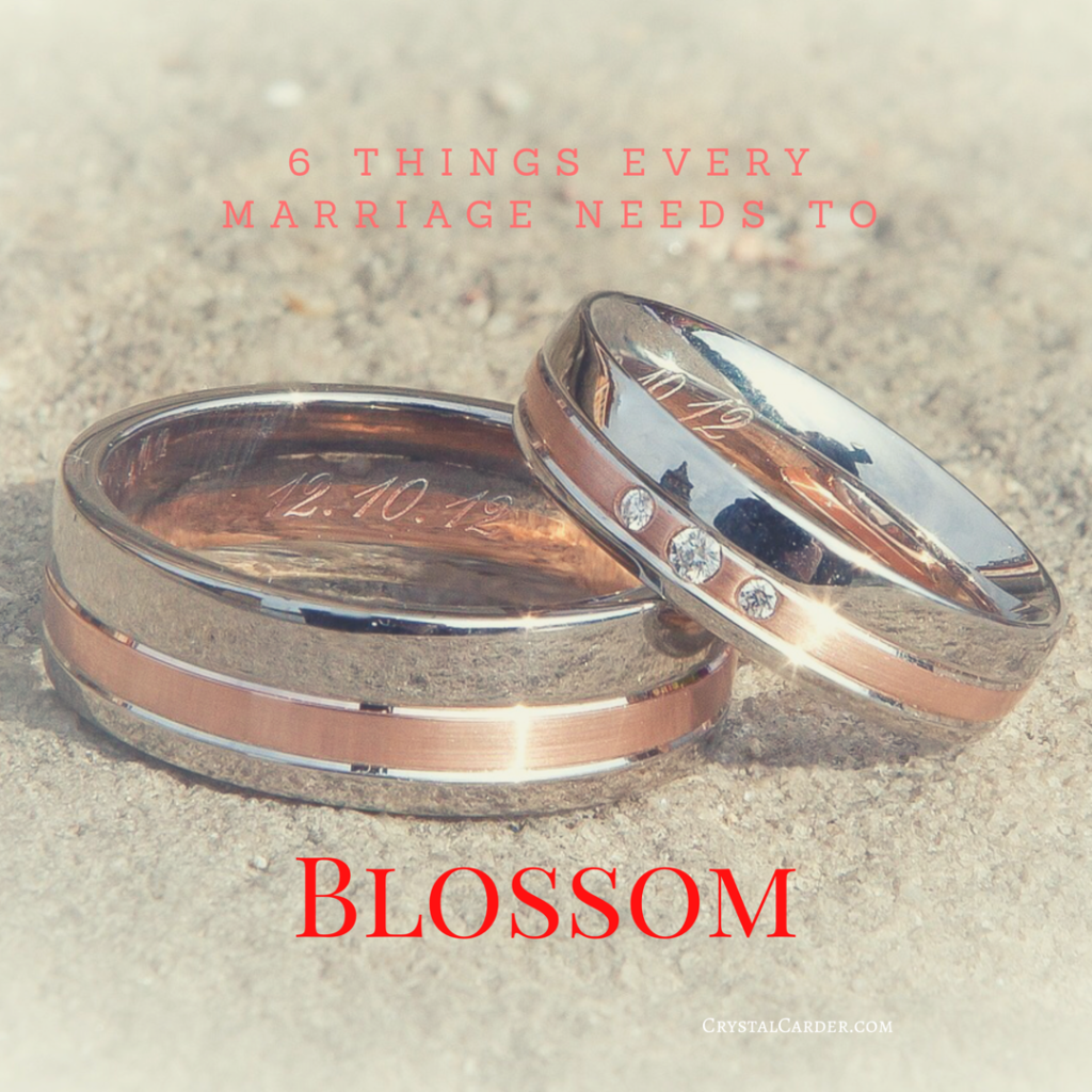6 Things A Good Marriage Needs to Blossom