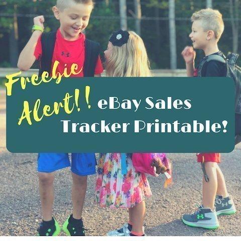 FREE eBay Sales Tracker Printable