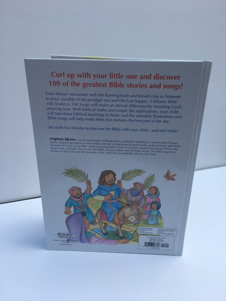 5-Minute Bible Stories Review back cover