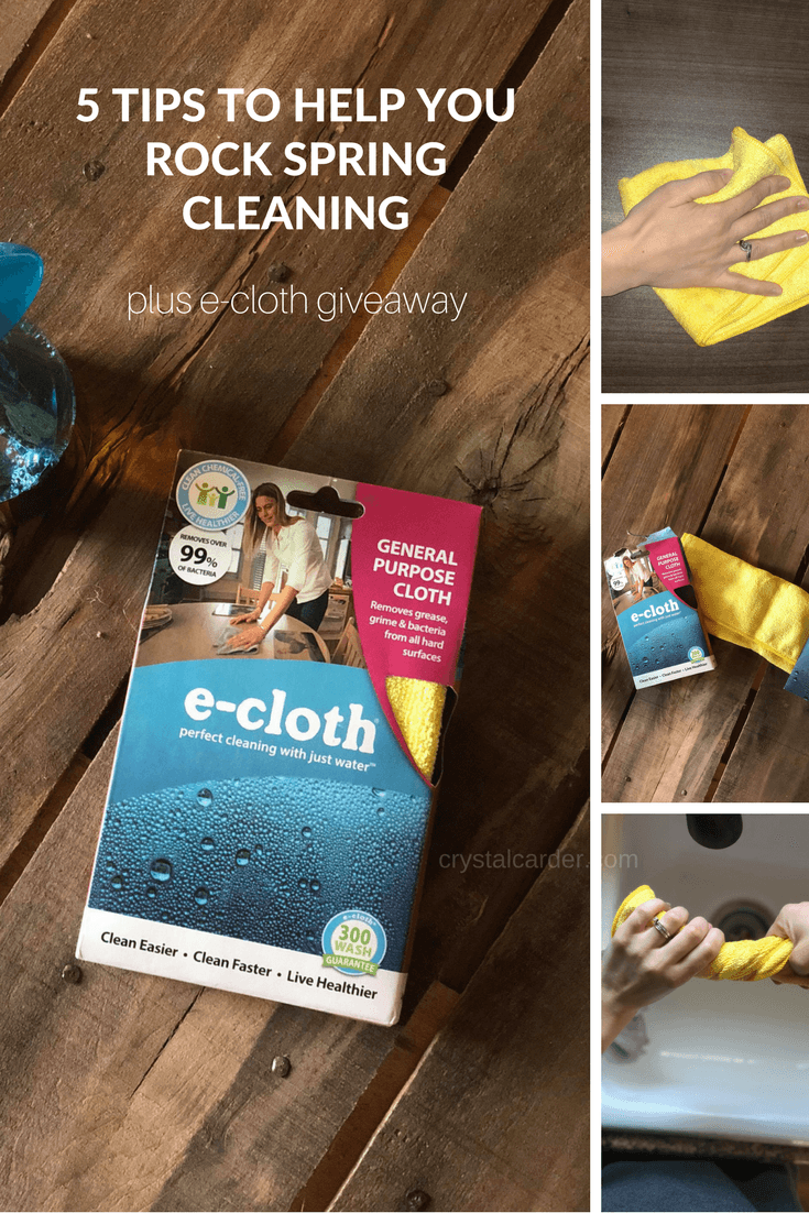 5 tips to help you rock spring cleaning plus e-cloth giveaway