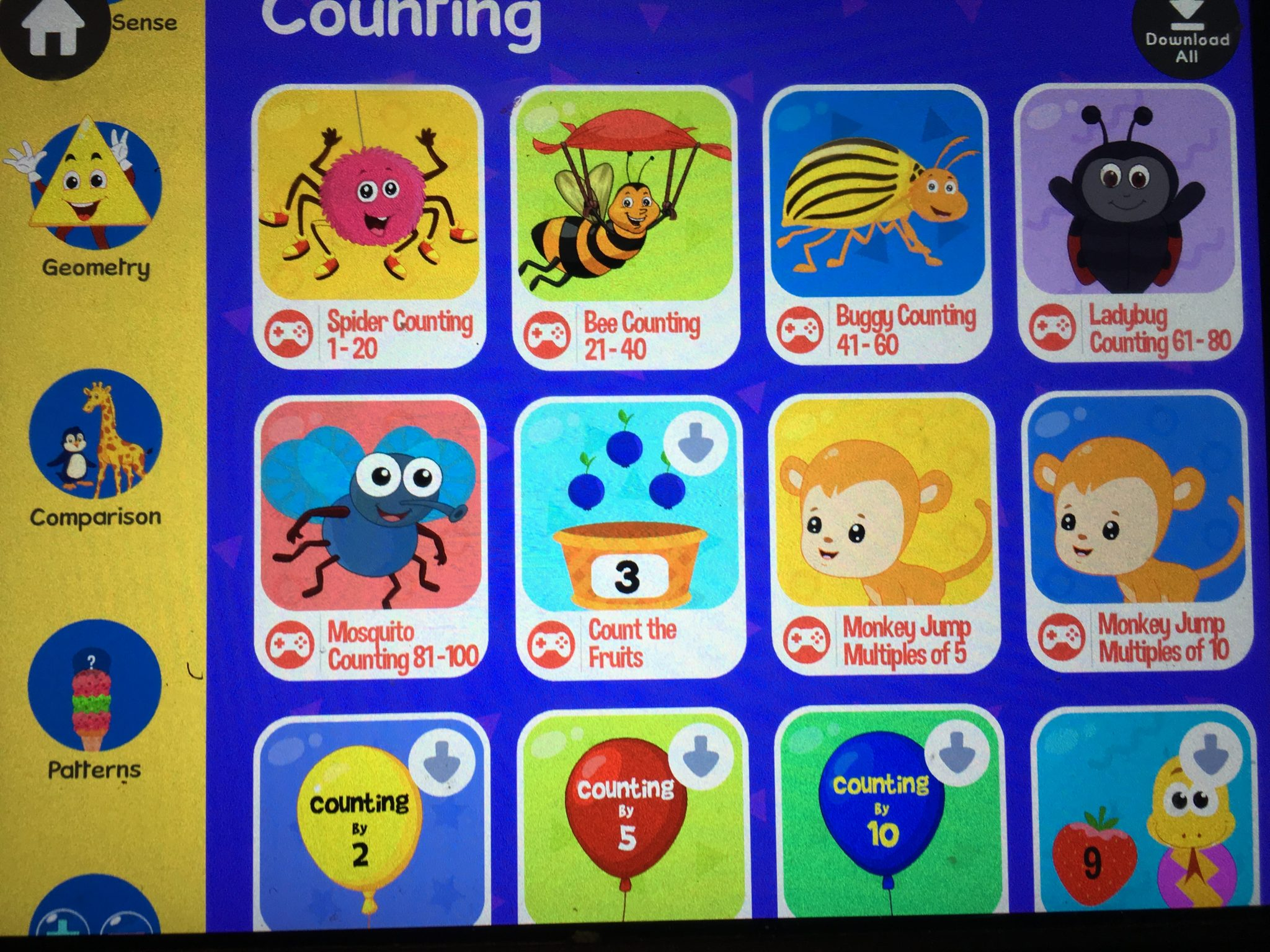 Kidlo Preschool Math Games for Kids app